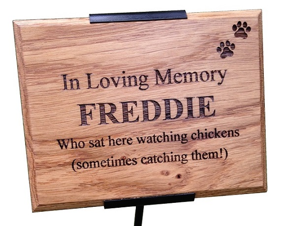 Engraved Wooden Memorial Plaques